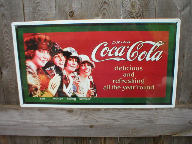 DRINK COCA-COLA TIN SIGN METAL RETRO ADV SIGNS C