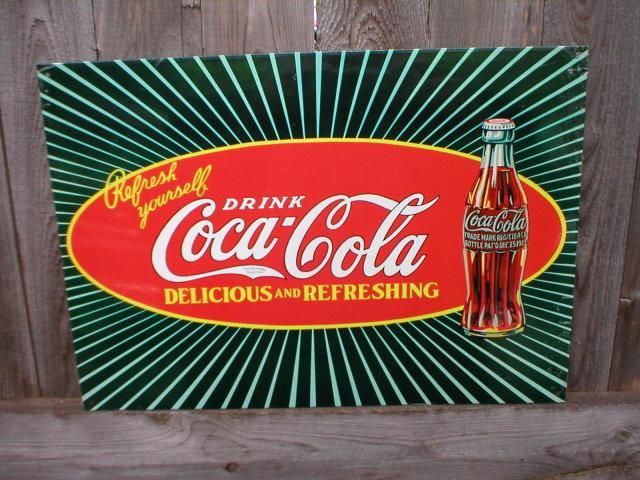 DRINK COCA-COLA TIN SIGN