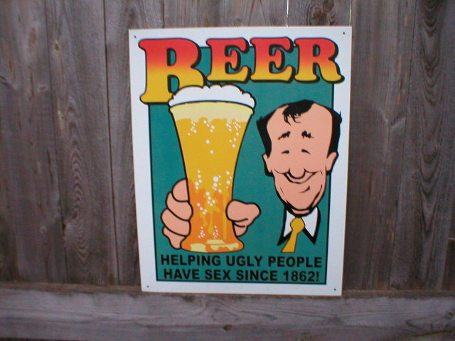 BEER RETRO TIN SIGN