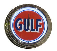 GULF GASOLINE NEON CLOCK