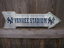 YANKEE STADIUM ARROW  SIGN RETRO METAL ADV SIGNS F