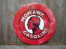 MOHAWK GASOLINE TIN METAL SIGN
