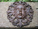 CAST IRON VICTORIAN LADY WALL PLAQUE HOME OFFICE DECOR S