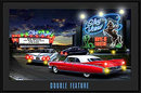 DOUBLE FEATURE LED LIGHT PICTURE SIGN POSTER AD PIC L