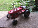 RED TIN TRACTOR RUBBER TIRES T