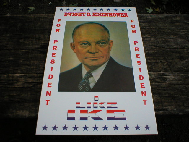 DWIGHT D. EISENHOWER POSTER PRINT ADV AD PICTURE K