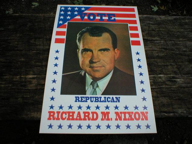 RICHARD M. NIXON POSTER PRINT ADV AD PICTURE K