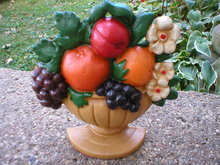 CAST IRON FRUIT DOOR STOP HOME OFFICE DECOR F