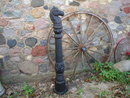 BIG CAST IRON HORSEHEAD HITCHING POST HOME DECK GARDEN DECOR H