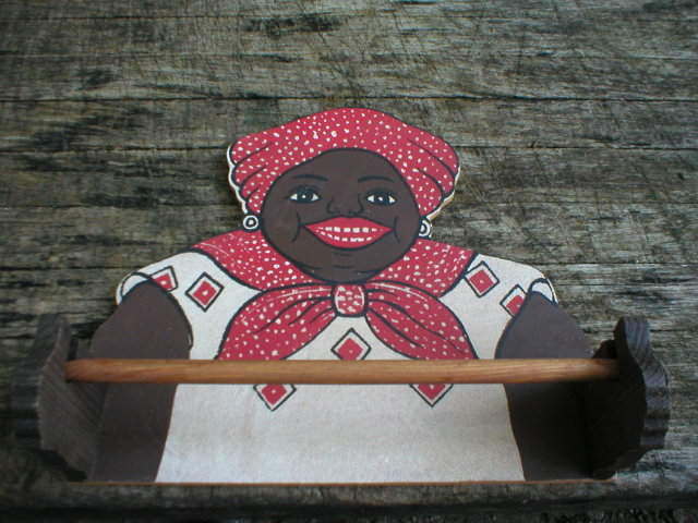 BLACK AMERICANA MAMMY PAPER TOWEL HOLDER M