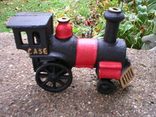 CAST IRON RAILROAD TRAIN ENGINE R