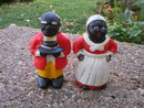 ONE SET CAST IRON AUNT JEMIMA MOSES DIME BANKS M