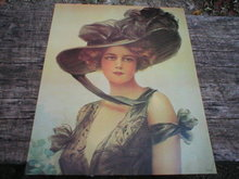 VICTORIAN LADY PRINT ADV AD PICTURE POSTER PHOTO V