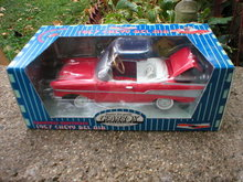 1957 GEAR BOX CHEVY BEL AIR DIECAST PEDAL CAR BANK C
