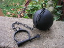 ANTIQUE VINTAGE STYLE LEG CUFFS BALL & CHAIN H