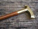 BRASS HANDLE GOLF PUTTER CANE WALKING STICK G