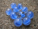 BLUE CAT EYE SHOOTER MARBLES TWO POUNDS 7/8 INCH