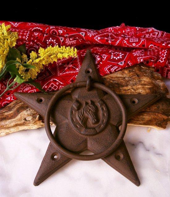 STAR DOOR KNOCKER CAST IRON