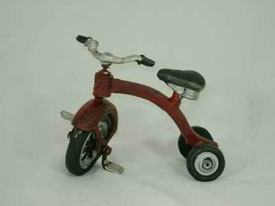SMALL CAST IRON TOY TRICYCLE T