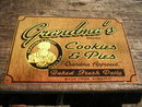 GRANDMA'S COOKIES & PIES TIN SIGN METAL RETRO ADV SIGNS M