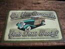 WOODY WAGON CAR AUTO TIN SIGN METAL RETRO ADV SIGNS W