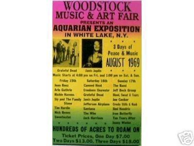 WOODSTOCK 1969 CONCERT POSTER