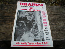 BRANDO THE WILD ONE POSTER FREE SHIPPING