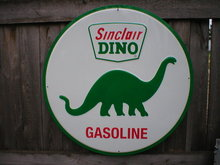 SINCLAIR DINO GASOLINE TIN SIGN METAL GAS OIL SIGNS S