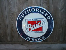 BUICK AUTHORIZED SERVICE TIN SIGN RETRO ADV SIGNS