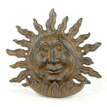 CAST IRON SUN FACE BIRD FEEDER HOME GARDEN DECOR M