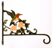 CAST IRON HUMMINGBIRD PLANT HOLDER IRONWARE DECOR H