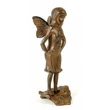 CAST IRON OBSERVING FAIRY IRONWARE DECOR B