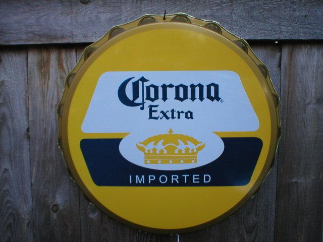 CORONA EXTRA MOLDED CRIMPED TIN BOTTLE CAP M