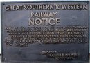 GREAT SOUTHERN & WESTERN RAILWAY SIGN CAST IRON