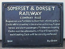 SOMERSET DORSET RAILROAD SIGN CAST IRON