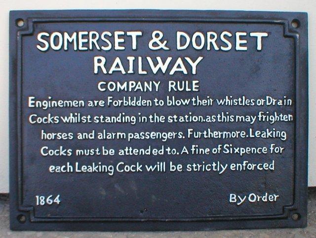 SOMERSET DORSET RAILROAD SIGN CAST IRON