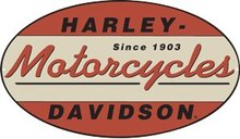 HARLEY DAVIDSON MOTORCYCLE OVAL SIGN METAL ADV SIGNS H