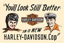 HARLEY DAVIDSON MOTORCYCLE CAPS TIN SIGN