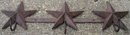 STAR COATRACK CAST IRON 3 HOOK WALL HANGER S