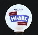 ATLANTIC HI ARC GAS PUMP GLOBE SIGN