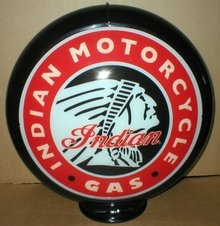 INDIAN MOTORCYCLES GAS PUMP GLOBE SIGN 13.5