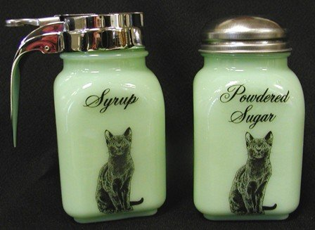 JADE CAT BREAKFAST SET JADEITE SYRUP POWDERED SUGAR