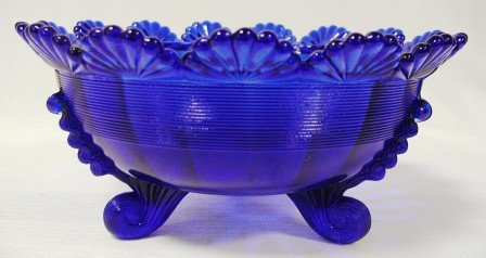 KLONDYKE FOOTED BOWL COBALT C
