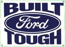 BUILT FORD TOUGH PORCELAIN COATED SIGN METAL ADV AD SIGNS F