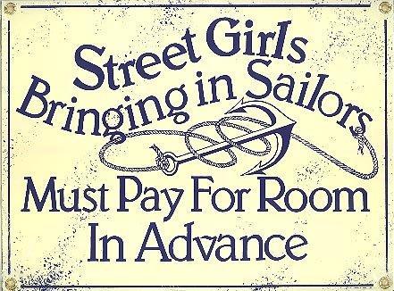 STREET GIRLS PORCELAIN COATED SIGN