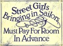 STREET GIRLS PORCELAIN COATED SIGN