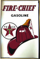 TEXACO FIRE-CHIEF GASOLINE DECAL GAS OIL FILLING STATION DECOR
