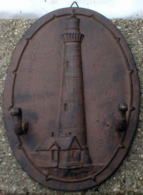 LIGHTHOUSE WALL HOOK CAST IRON DECOR H