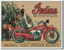 INDIAN SCOUT MODEL 101 TIN SIGN RETRO METAL ADV SIGNS