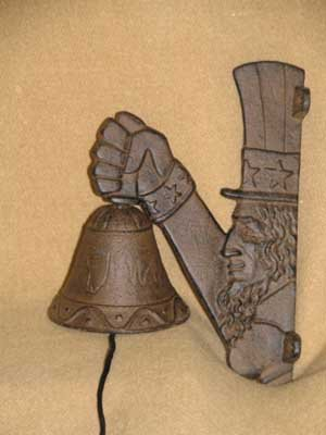 UNCLE SAM BELL CAST IRON HOME DECOR S